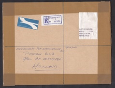 South Africa: Registered Airmail Cover To Netherlands 1996, ATM Meter Label, R-label Overport, No Cancel (traces Of Use) - Brieven En Documenten