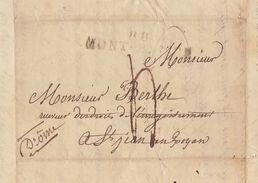Lac 1829 Saint Jean En Royans Drome Pour De Berlhe - Marcofilia (sobres)