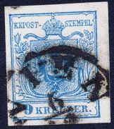 1850 ÖSTERREICH - AUSTRIA  9 Kreuzer Tiefstsigniert Rismondo BPP - 1850-1918 Imperium