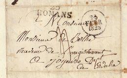 Lac 1828 Genissieux à Joyeuse Ardèche Pour De Berlhe - 1801-1848: Précurseurs XIX