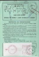 CALVADOS - 14 - CAEN  LA FOLIE COUVRECHEF GA   Sur ORDRE DE REEXPEDITION TàD De Type A9 De 1983 - Marcophilie (Lettres)