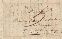 Lac 1827 Saint Marcellin Montbrison Vers Joyeuse Ardèche Pour De Berlhe - Storia Postale