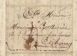 Lac 1829 Roanne Vers Romans Sur Isère Pour De Berlhe - 1801-1848: Voorlopers XIX