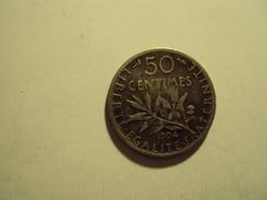 50 CENTIMES ARGENT SEMEUSE  ANNEE 1904 A TB  MIS EN VENTE 3 EUR AU LIEU 5 - G. 50 Céntimos