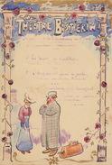 Ancien Programme Sur Carton Du Théâtre Bastierini Fait Main - Programme