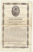 Acte De Consécration De 1835 Association Du Coeur Immaculé De Marie Environ 22x14cm - Communion
