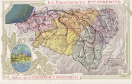 CPA - Carte Du Département ( Edition De La Chocolaterie D'Aiguebelle ) - Zonder Classificatie