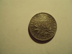 50 CENTIMES ARGENT SEMEUSE  ANNEE 1905 A TTB MIS EN VENTE 30 EUR AU LIEU 60 - G. 50 Céntimos