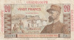 Billet De 20 Francs De Guadeloupe Emile Gentil En L'état Rare - Billets