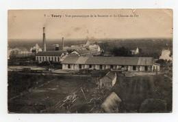 Carte Postale Toury Vue Panoramique De La Sucrerie Et Du Chemin De Fer - Sonstige Gemeinden
