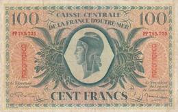 Billet De 100  Francs De Guadeloupe Caisse Centrale D'outre-mer , Ref K 126 - Billets
