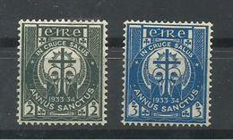 IRLANDA YVERT 62/63   MH  * - 1922-37 Stato Libero D'Irlanda