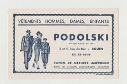 BUVARD PODOLSKI ROUEN , VETEMENTS HOMMES DAMES ENFANTS - Textile & Vestimentaire
