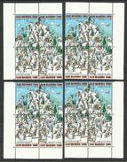 1997 San Marino Saint Marin SCI SESTRIERE SKI 4 Serie Di 4v. (blocco) MNH** - Sci