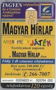 HU.- Hongarije. - Telefoonkaart. Telefonkartya. MATAV. MAGYAR HIRLAP. 2 Scans - Hongarije