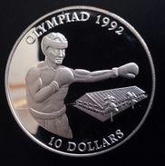 "Solomon Islands 10 Dollars 1992 Sivler Proof ""1992 Olympic Games"" Free Shipping Via Registered Air Mail - Salomonen"