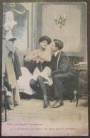 CPA Fantaisie - Couple - Chez Le Grand Couturier N°4 - Royer Nancy - Les Mesures Sont Prises ; Un Baiser, Etc... - Couples