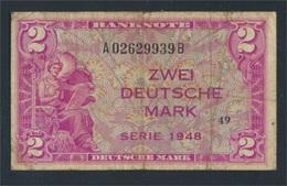 BRD Rosenbg: 234a, Kenn-Bst: A, Serie: B Gebraucht (III) 1948 2 Deutsche Mark (7412436 - 2 Deutsche Mark