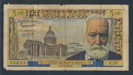 Frankreich Pick-Nr: 141 (1960), Gelocht Stark Gebraucht (IV) 1960 5 Nouveaux Francs (7497789 - Schatzamt