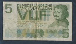 Niederlande Pick-Nr: 90a Gebraucht (III) 1966 5 Gulden (7888572 - [2] 1815-…: Königreich Der Niederlande