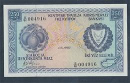 Zypern Pick-Nr: 41c (1.6.1982) Bankfrisch 1982 250 Mils (8017983 - Zypern
