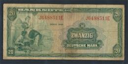 BRD Rosenbg: 240, Kenn-Bst.: J, Serien: A-R Gebraucht (III) 1948 20 Deutsche Mark (8087412 - [ 7] 1949-… : FRG - Fed. Rep. Of Germany
