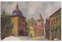 Gemäldekarte Sign. E Jahn - Mühlhausen In Thüringen **oran-2-123** - Malerei & Gemälde
