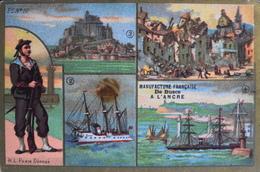 Belle Chromo. Dorée - MANUFACTURE FRANCAISE Des BUSCS à L'ANCRE - Tremblements De Terre De Lisbonne - TBE - Histoire