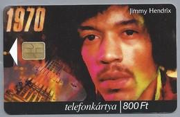 HU.- Hongarije. - Telefoonkaart. Telefonkartya. MATAV. Jimmy Hendrix. A ZENE VILAGA. 2 Scans - Hongarije