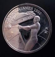 "SAMOA 10 TALA 1992 SILVER PROOF ""Olympic Games 1992"" Free Shipping Via Registered Air Mail - Samoa"