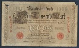 Deutsches Reich Rosenbg: 39 Rotes Siegel Stark Gebraucht (IV) 1909 1.000 Mark (8197974 - [ 2] 1871-1918 : German Empire
