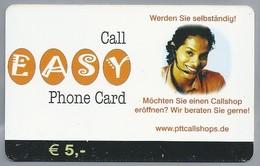 DE.- Duitsland. Call EASY Phone Card. PTT, Kettwiger Strasse 29, Essen. 2 Scans. - Duitsland