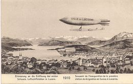 Aviation - Aviateur - Dirigeable Villede Lucerne - 1910 - Dirigibili