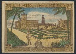 Geldschein Banknote Notgeld Deutsche Kolonien DSWA Deutsch-Südwestafika 75 Pf.   - Ohne Zuordnung