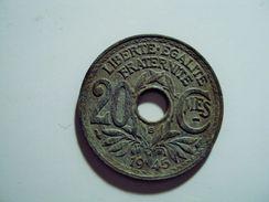 20 CENTIMES LINDAUER ZINC  ANNEE 1945 B RARE TTB  MIS EN VENTE 150 EUR AU LIEU 250 - E. 20 Centimes