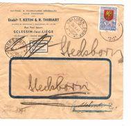 TP 544 Surtaxe S/L.c.Sclessin 16/5/1941 V.Suisse C.de Recherche Bollingen-Uebesch-Stockem Censure +étiquette 1097 - Briefe U. Dokumente