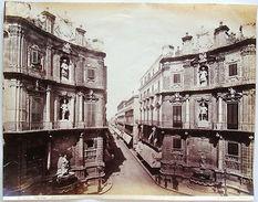Foto Epoca Albumina Sommer Palermo Quattro Cantoni 1890 - Foto