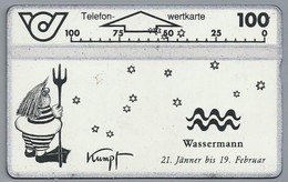 AT.- Telefoonkaart. Telefon-wertkarte. Telefonwertkarte. Wassermann 21 Jänner Bis 19 Februar. Kumpf. Oostenrijk. 232B - Dierenriem