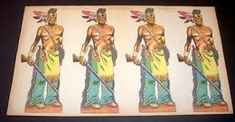 Marca Stella Foglio N° 24 Indiani Irochesi 1930 - Giocattoli Antichi