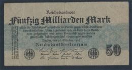 Deutsches Reich Rosenbg: 122c, Ohne FZ Gebraucht (III) 1923 50 Mrd. Mark (8981310 - [ 3] 1918-1933: Weimarrepubliek