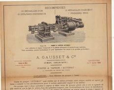 Catalogue Pompe à Vapeur Gausset à Jumet 1899 - Belgium