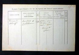 Documento Autografo Atenolfi Pasquale 1867 Ca. - Autographes