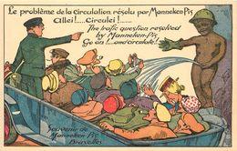 BRUXELLES -  Manneken-pis, Carte Illustrée Humoristique.(Albert éditeur) - Monumenti, Edifici