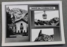 Foto Montagna Courmayeur 1950 Cartolina Valle D'aosta - Photographs
