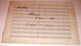 Musica Partitura Militare Manoscritto - 1900 Ca 02 - Vecchi Documenti
