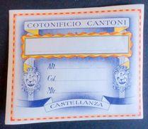 Moda - Etichetta Epoca Cotonificio Cantoni Cromolito Rif. 92 - 1910 Ca. - Pubblicitari