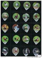 3240 - Fribourg 2012 (Lapin Coq Pigeon) Serie Complete De 20 Opercules Suisse Cremo - Opercules De Lait