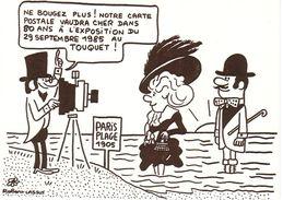 LASSUS  Robert   - 62   LE TOUQUET  -  Photographe - 2ème  Salon De La Carte Postale  - CPM  TBE  CARTE  DEDICACEE - Autres Illustrateurs