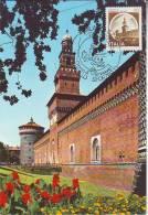 Italia  Maximum 1980, Castello Sforzesco Milano, Castle - Cartoline Maximum