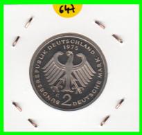 ALEMANIA - GERMANY -MONEDA DE 2.00 DM. THEODOR HEUSS - AÑO 1975-G CALIDAD PROOF S/C - [ 7] 1949-… : RFA - Rep. Fed. Alemana